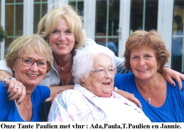 Onze Tante Paulien met dochters