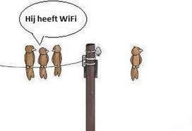 Wifi heeft hij