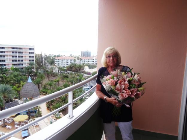 Gaby op haar 70e jaardag.