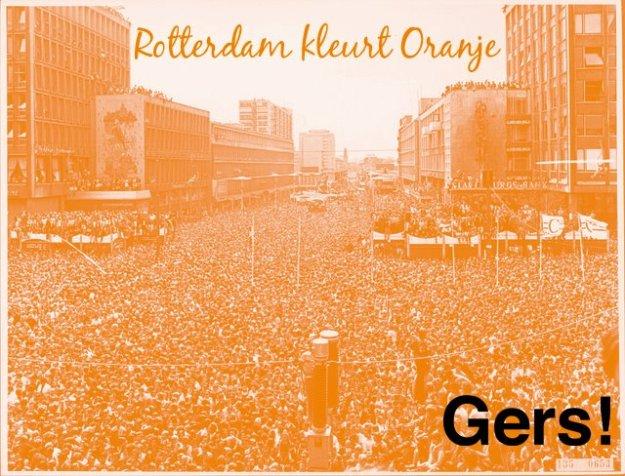 Rotterdam kleurt Oranje