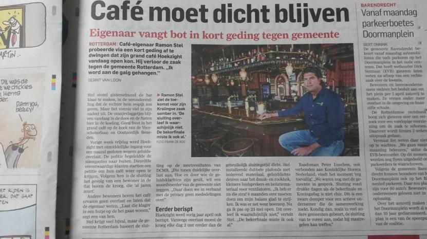 cafe van Stel dicht